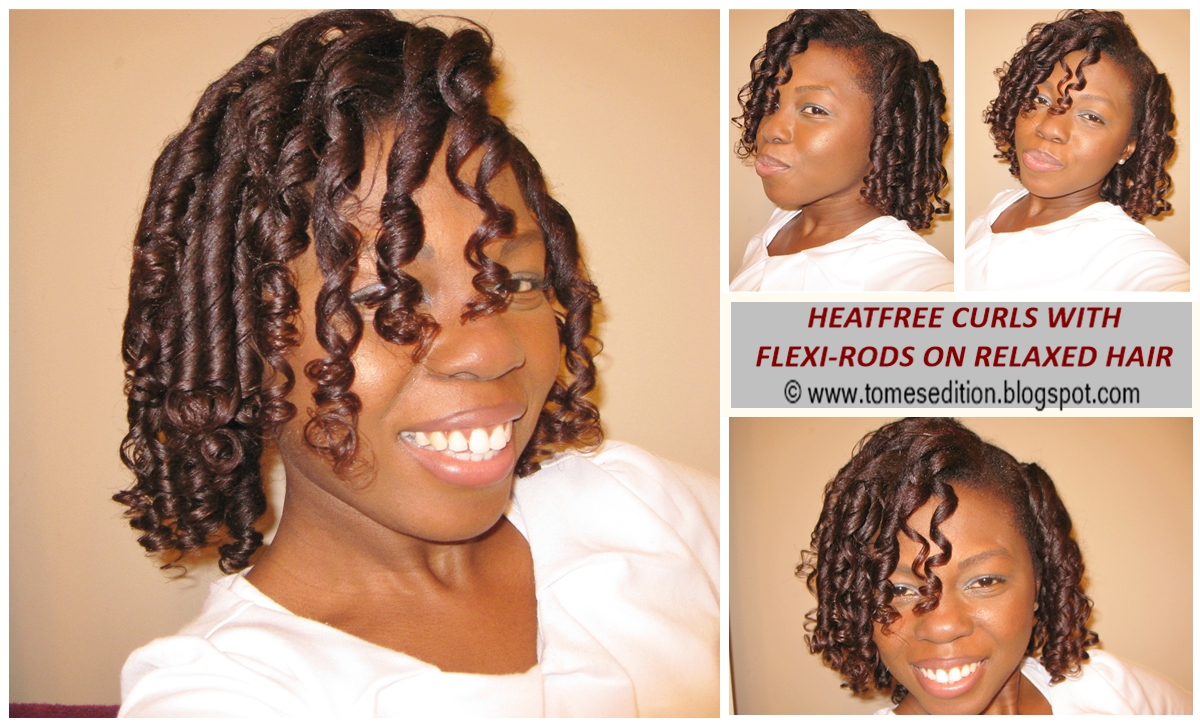 Tomes Edition My Best Results Of Heatfree Curls For Relaxed Hair