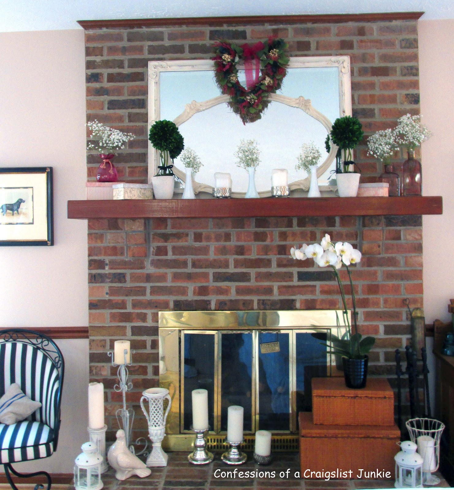 Painting a Brick Fireplace with Chalk Paint 1481 x 1600
