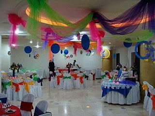 Decoracion para Bautizo de Niña, Salones