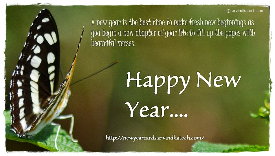 New Year, beginning, new chapter, life, beautiful, Happy New Year, Card