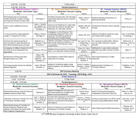 SPP 2013 Physics Congress Program version 2013.10.22 15:46 H, p. 1b