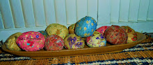 1 DOZEN PRIMITIVE FABRIC WRAPPED EGGS