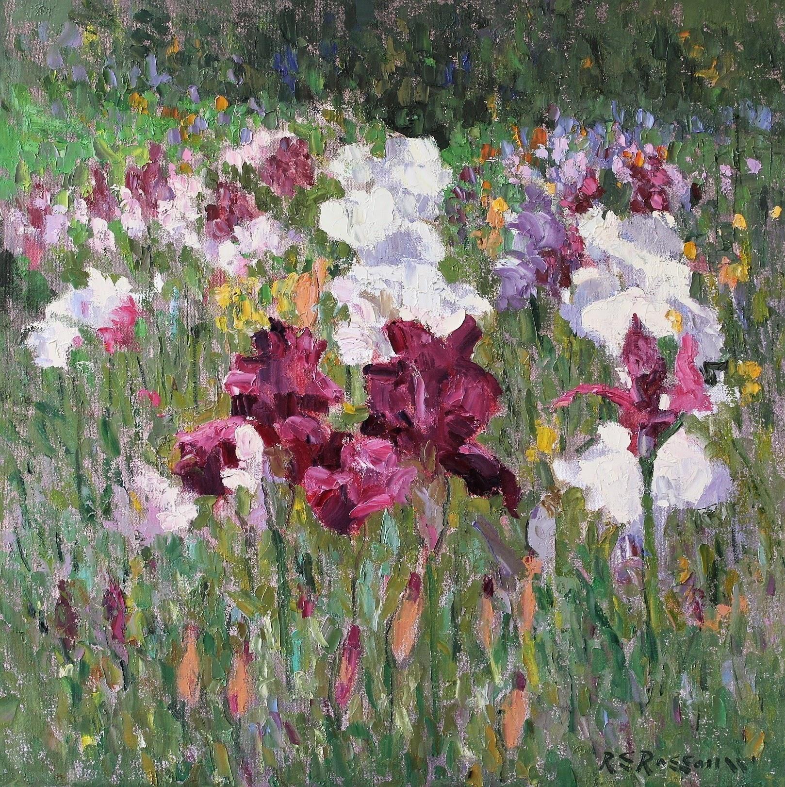 Roelof Rossouw Crimson and White Irises