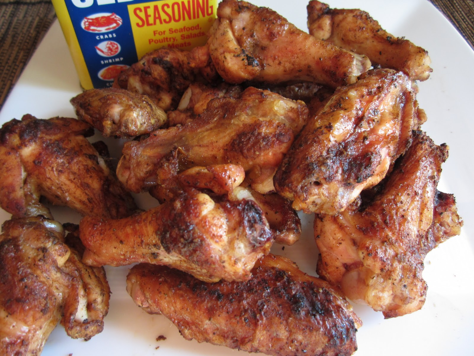 Cheese Please: Old Bay Grilled Chicken Wings