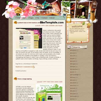 Japan Style Tatami blogger template