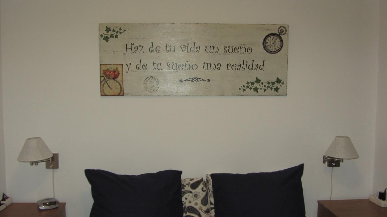 Las creaciones de tiri de tablero a cuadro sobre la cama - Cuadros encima cabecero cama ...