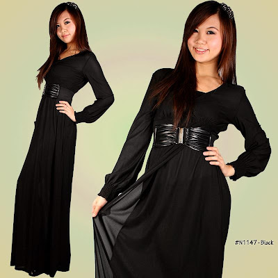 Long Black Maxi Dress on Maxi Dress  Long Sleeve Lycra Maxi Dress 2