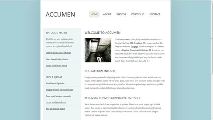 Accumen Free CSS Template
