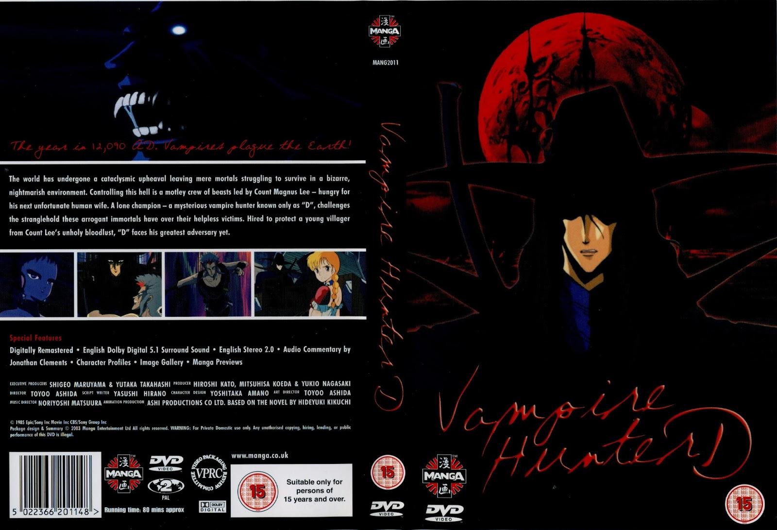 vampire+hunter+d+dvd+video+cover+jacket+manga+cartoon+for+sale+rent+inside - Vampire Hunter D[1985][Castellano][Remasterizado][Mega][AVI] - Anime no Ligero [Descargas]