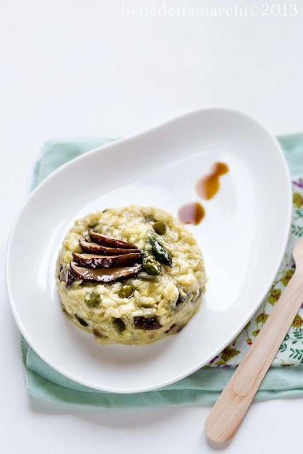 risotto al tè verde con asparagi e shiitake - appuntamento bio
