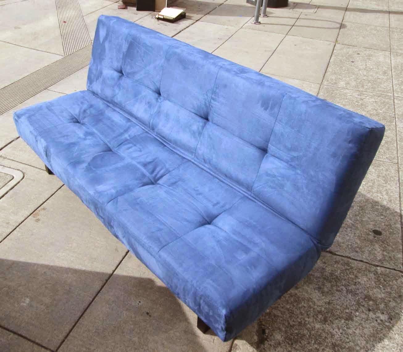 Uhuru furniture collectibles sold bright blue ikea fold for Ikea sofa bed 90