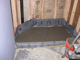 The rosenthal project s the man cave final phase - Shower base liner ...