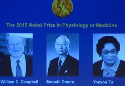 Le prix Nobel de médecine 2015 attribué conjointement à trois scientifiques