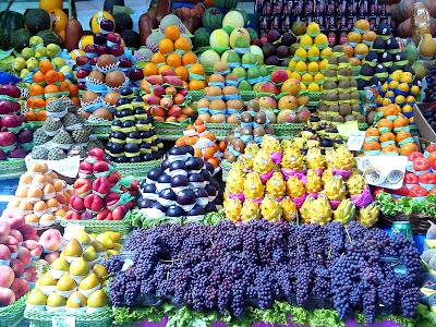 Biela e frutas do Mercadão de São Paulo
