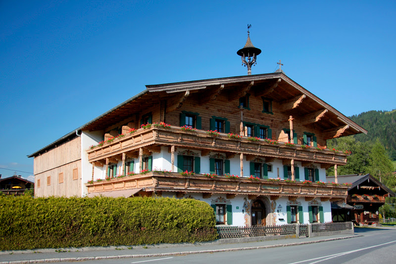 Traditional Austrian Houses Are Really Beautiful Arent They Look At All The Wood And How Special Windows