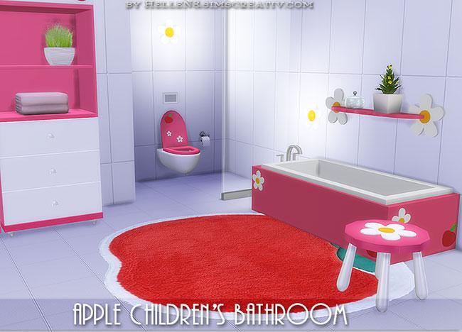 My sims 4 blog apple children 39 s bathroom set by hellen for Bathroom ideas sims 3