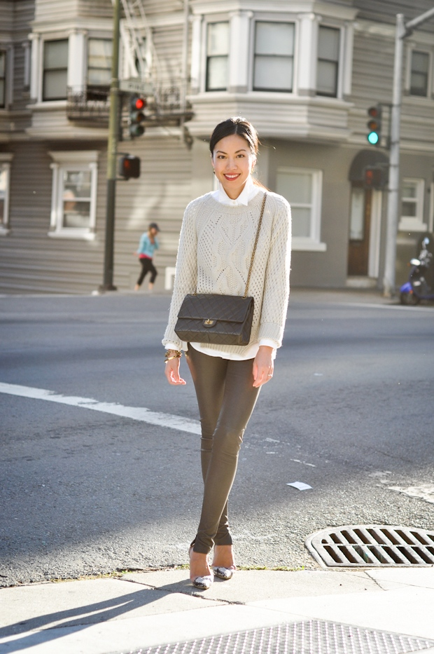 Cashmere and Leather | 9to5Chic