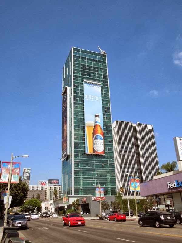 Giant Michelob Ultra refreshingly refreshing billboard