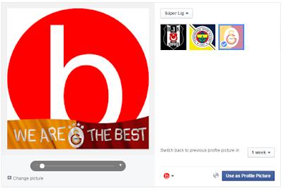 facebook galatasaray logosu tasarımlı profil resmi