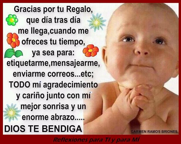 Gracias por estar siempre al pendiente de mi ♥ Dios te bendiga !!!