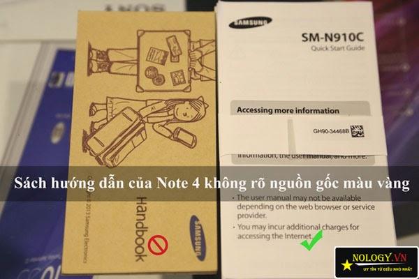 Phân biệt Samsung galaxy Note 4 chính hãng và hàng dựng