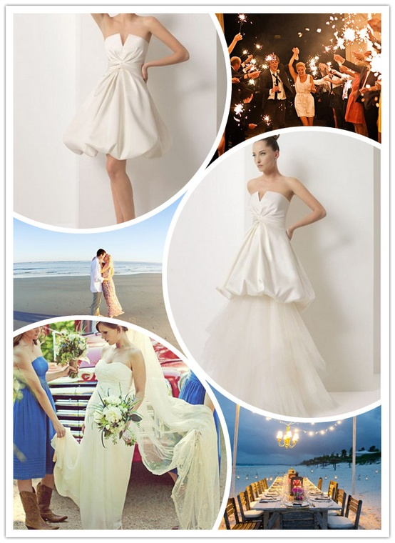 WhiteAzalea 2 In1 Wedding Dresses Long To Short Convertible Wedding Dresses