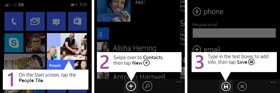 windows phone, making call, sending text, adding contacts, store, pinning apps