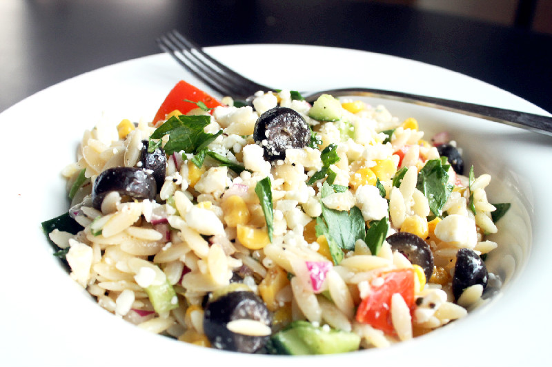 Orzo Pasta Salad with Oven Roasted Corn