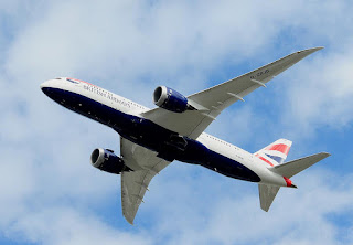 The first British Airways Boeing 787 in the air [Photo: MoonM]