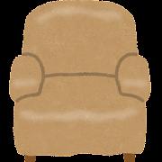 一人用ソファのイラスト(椅子)