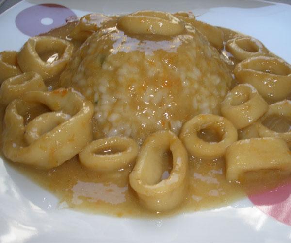 Recetas de la mia mama anillas de calamar con arroz blanco - Comidas con arroz blanco ...