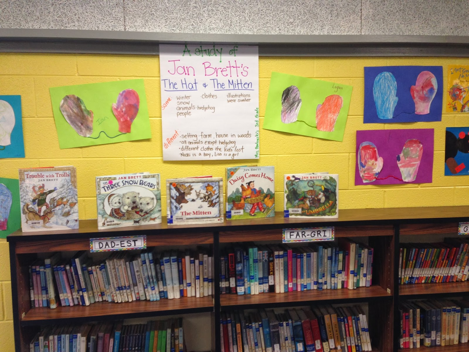 These Friends Made A List Of All The Jan Brett Books We Have In The Library