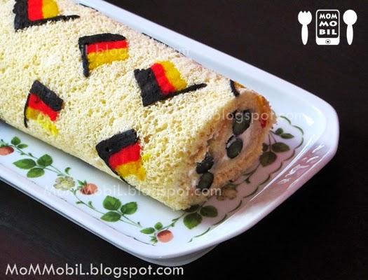 MoMMobiL: Backen zur Fussball-WM - Deutschland Biskuitrolle mit ... | {Kuchen deutschland 31}