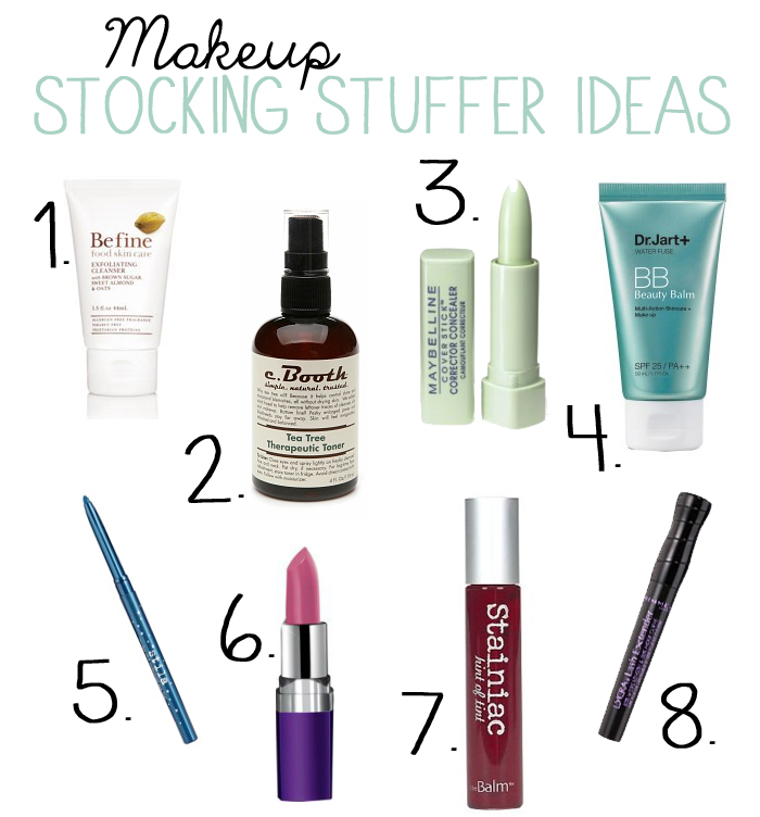 Makeup Stocking Stuffer Ideas by Jac&Elsie