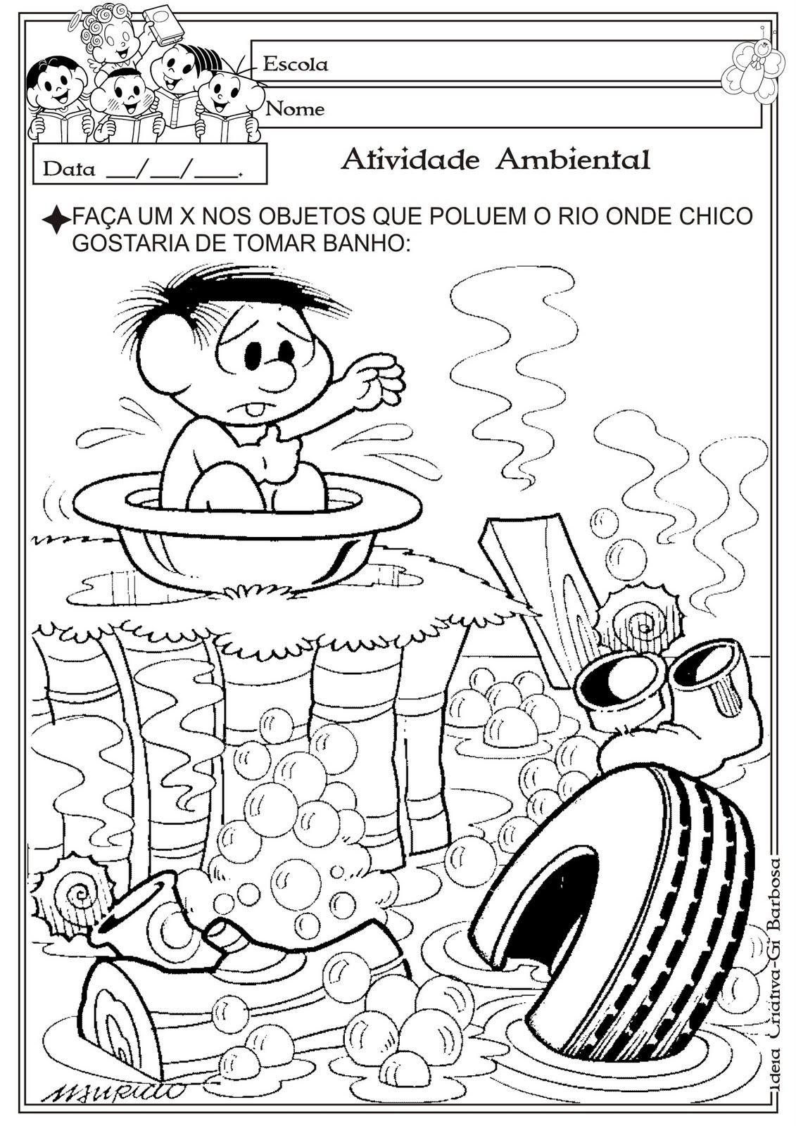 Atividade Meio Ambiente Polui    O Dos Rios