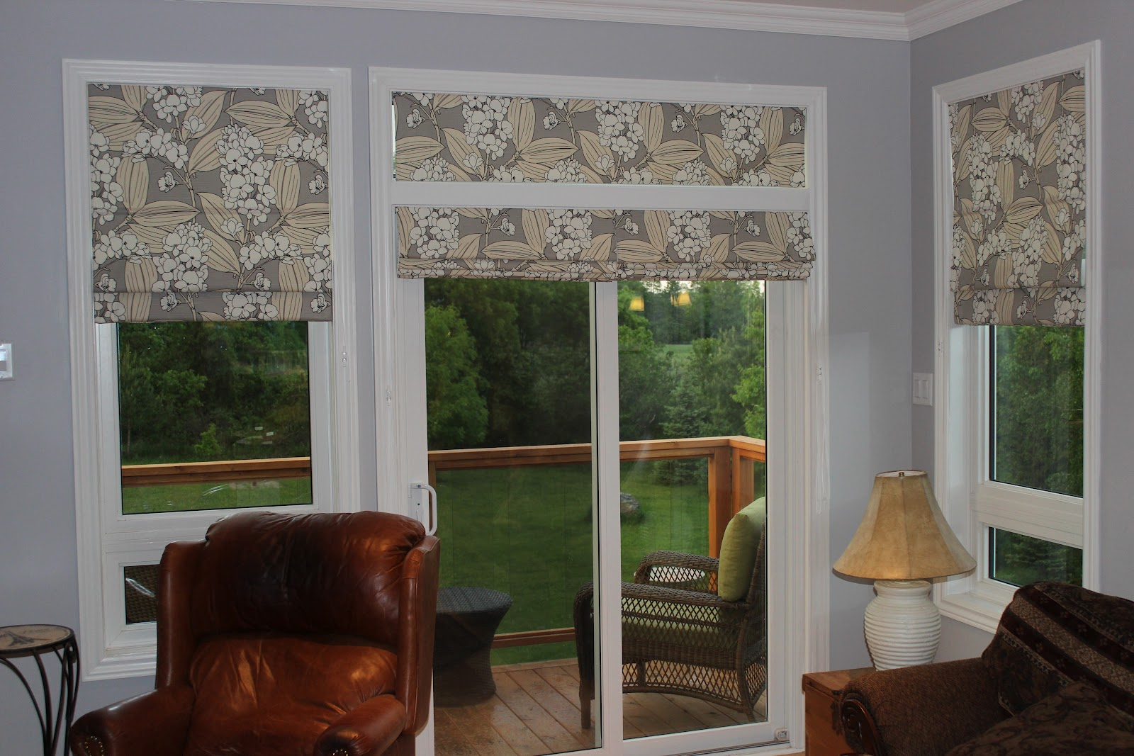 Delicieux Roman Shades In A Patio Door
