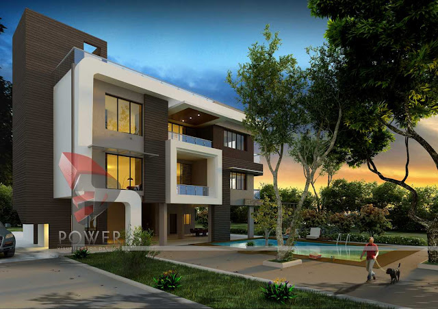 3d architectural exterior view of house,3d architecture rendering