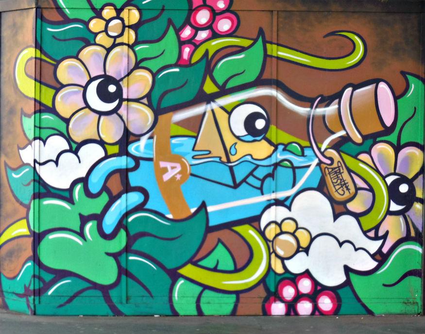 Femme Fierce graffiti croydon