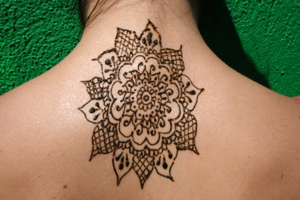 Neck Mehndi Tattoos