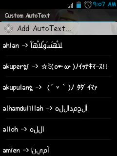 [Tutorial] Autotext + Font ala BB di Android