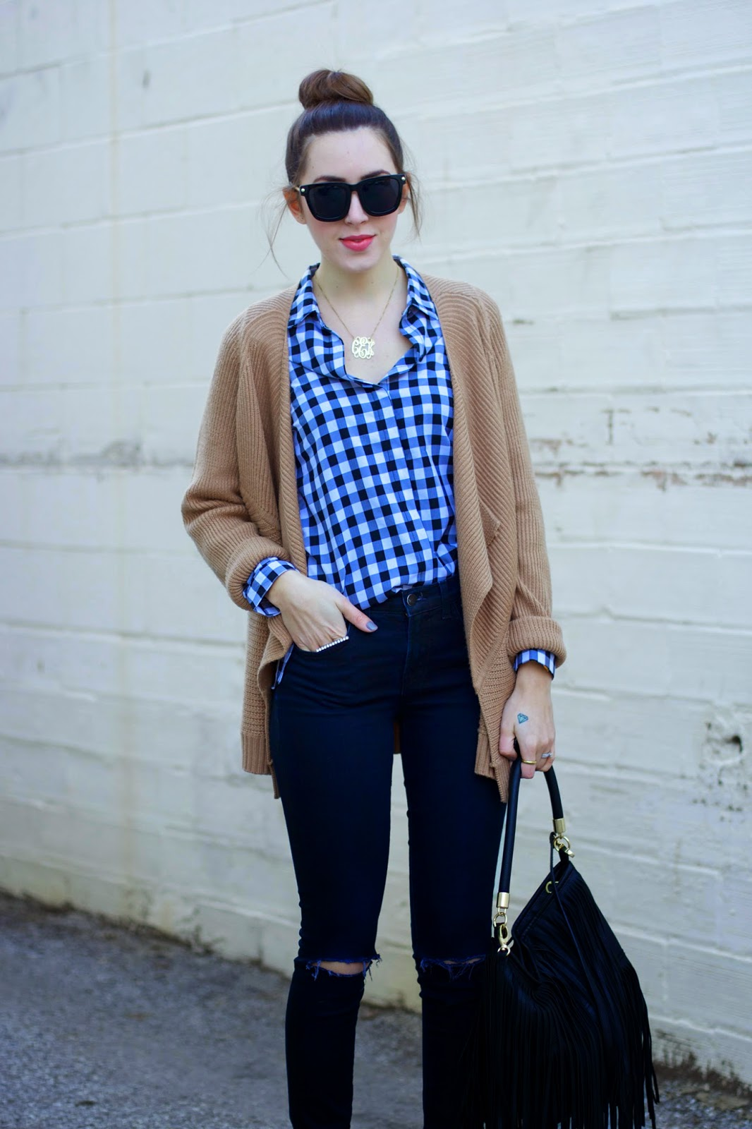 gingham-print-shirt-outfit