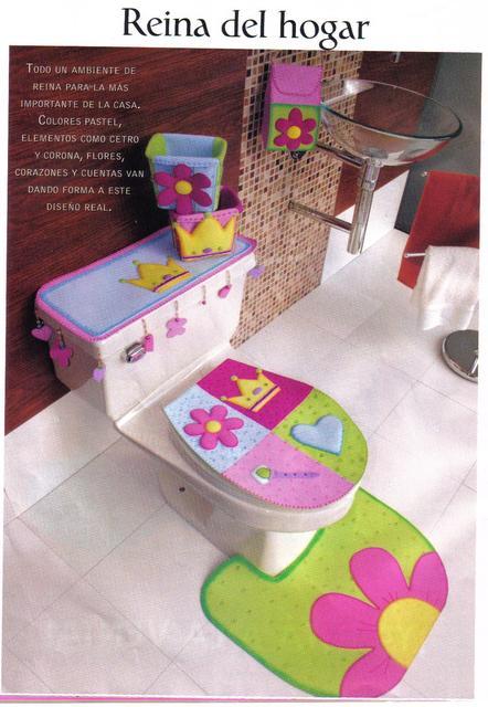 Lenceria De Baño Con Foami:Manualidades Para El Bano En Foami