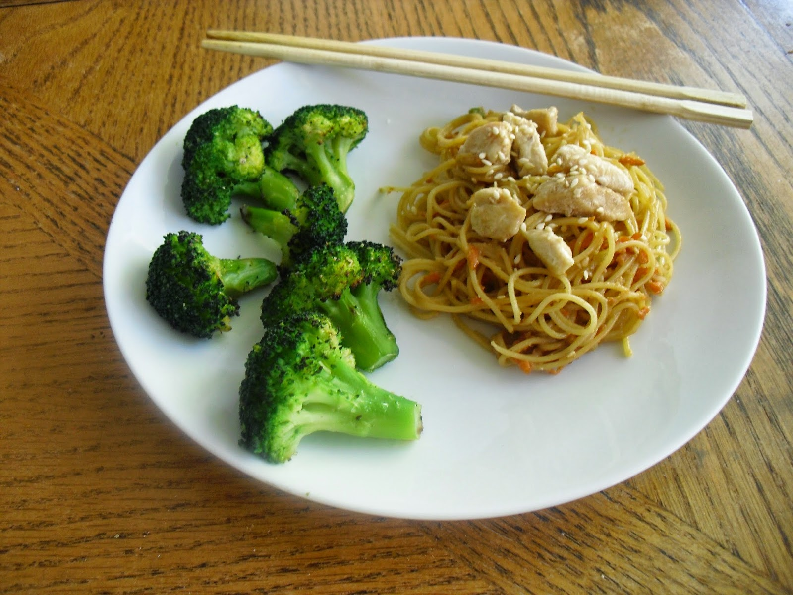 plate with chopsticks