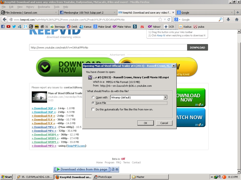 How to download any video from internet to pc