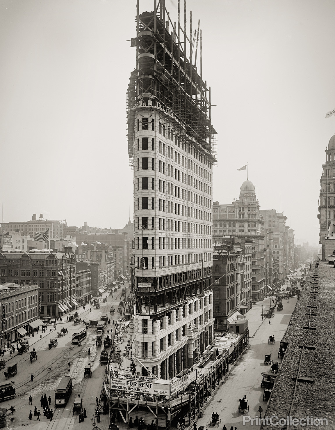old photos of the flatiron building under construction new york city 1902 vintage everyday. Black Bedroom Furniture Sets. Home Design Ideas