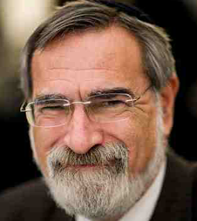 Jonathan Sacks, acting like a wolf in sheep's clothing, debating Dawkins, Al-Khalil and Greenfield.