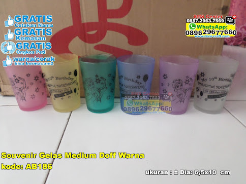 Souvenir Gelas Medium Doff Warna grosir