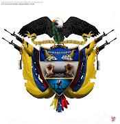 Escudo de Colombia (Actualizado). Ley 3 del 9 de mayo de 1834. Ilustración. escudo de colombia alterno