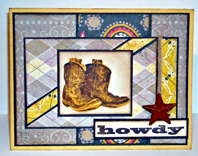 Stamps - Kitchen Sink Stamps Multi Step Cowboy Boots