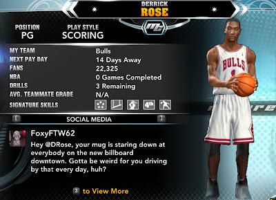 NBA 2K13 Derrick Rose MyCareer Player